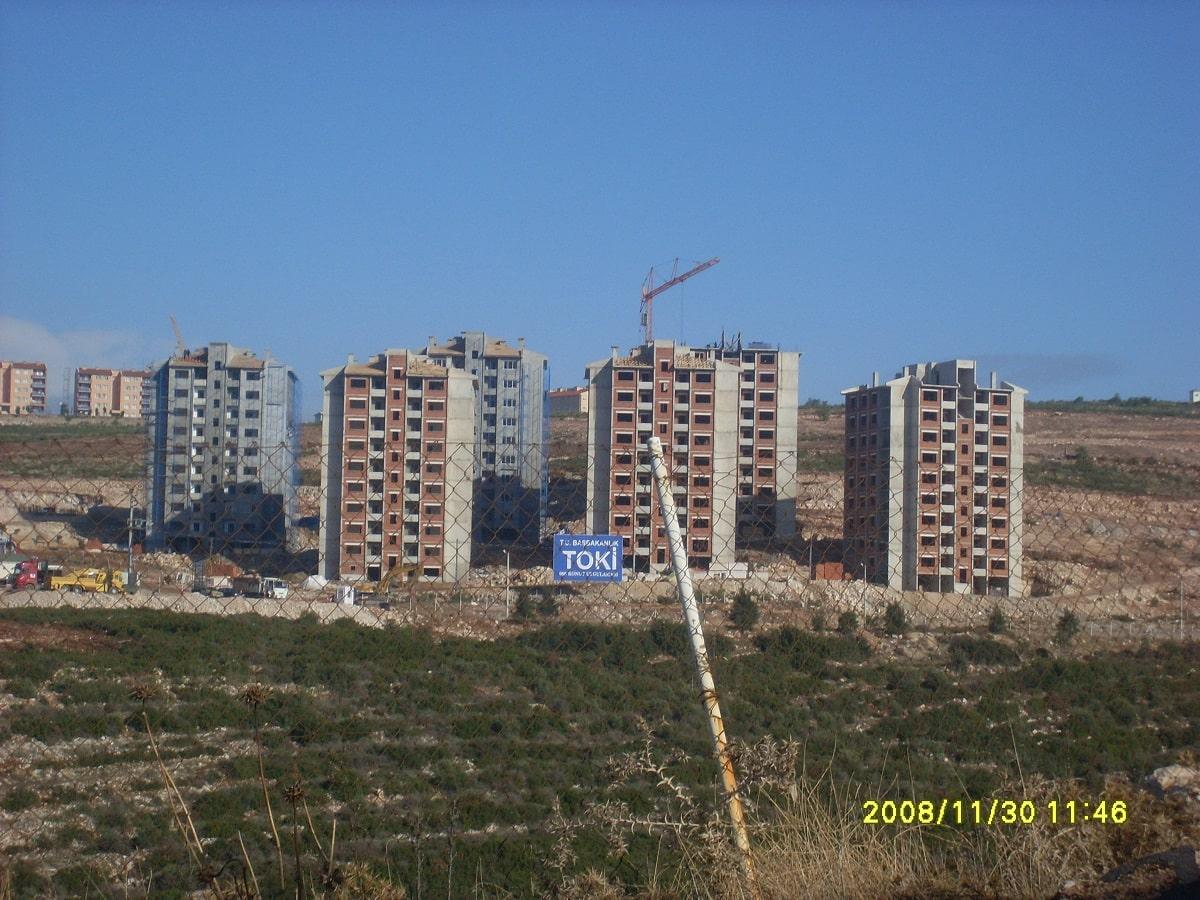 İzmir Buca TOKİ Blokları İnşaatı